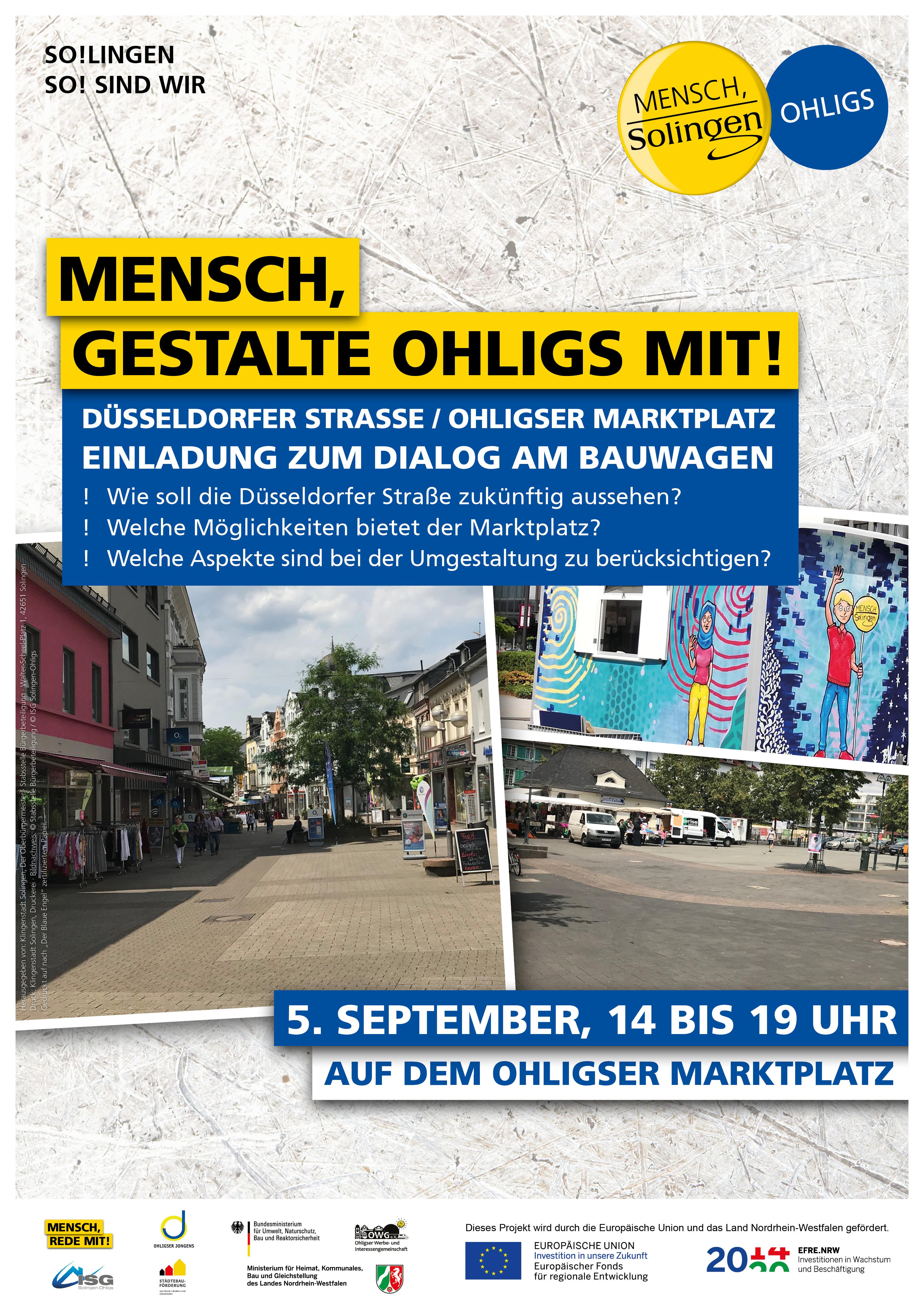 Neugestaltung der Fußgängerzone: Bewohnerbeteiligung am 5. September