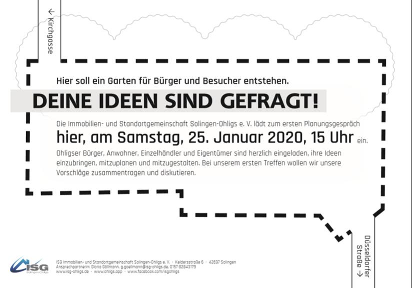 Neue Nutzungen für die Grünfläche Kirchgasse – Öffentliche Planungswerkstatt am Samstag, 25. Januar um 15 Uhr