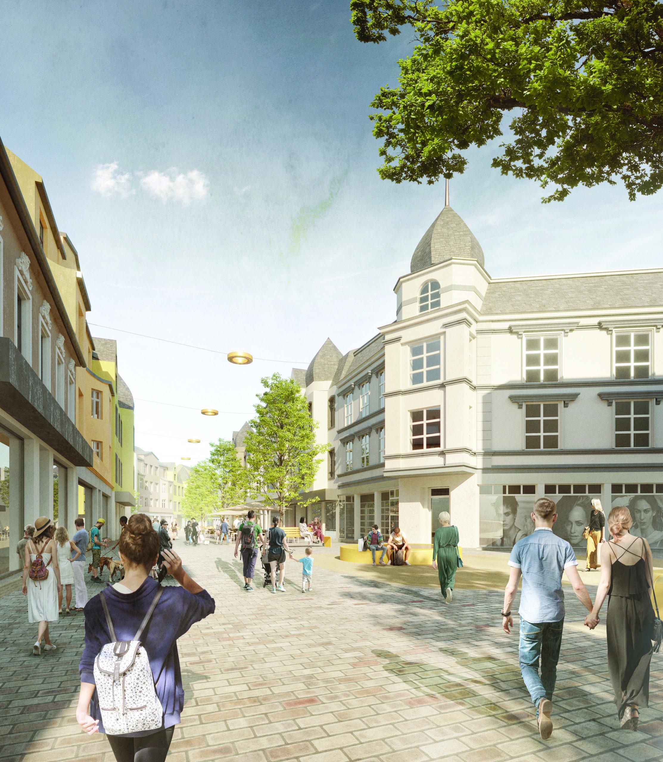 Wettbewerbsbeiträge zur Neugestaltung der Fußgängerzone in Ohligs in Ausstellung zu sehen